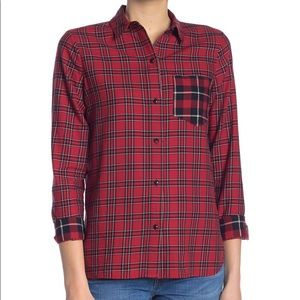 Madewell Button Front Plaid Size S. NWOT